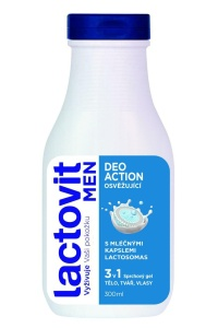 Lactovit Men - sprchový gel DeoAction 3v1, 300 ml